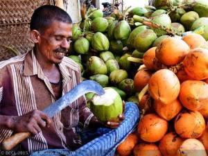 a tender coconut juice seller