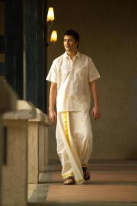 a man wearing a mundu