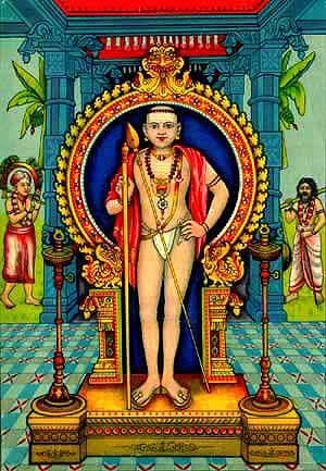 Lord muruga wearing kaupina