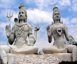 Shiva Parvati statue at Kailasagiri