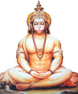 hanuman meditating