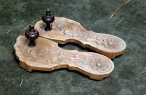 wooden sandal paduka