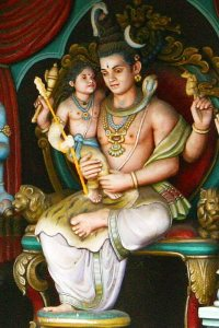 shiva with his son karthikeya