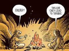 cave man lighting fire