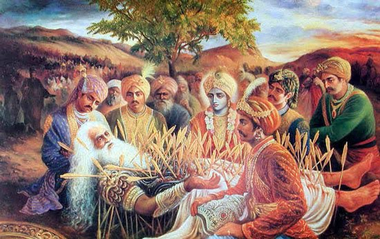 bhishma-teaching-governance-sharshhayya-pandavas