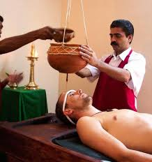 a man undergoing ayurvedic panchkarma tretament