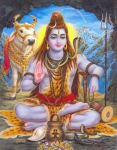 lord shiva meditating